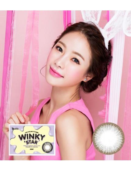 Winky Star 灰 (1月拋 2片/盒) 윙키스타 그레이