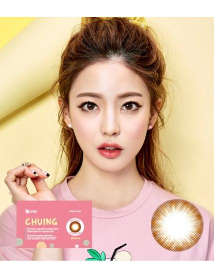 Chuing 棕 (1月抛/2片/盒) 츄잉 브라운