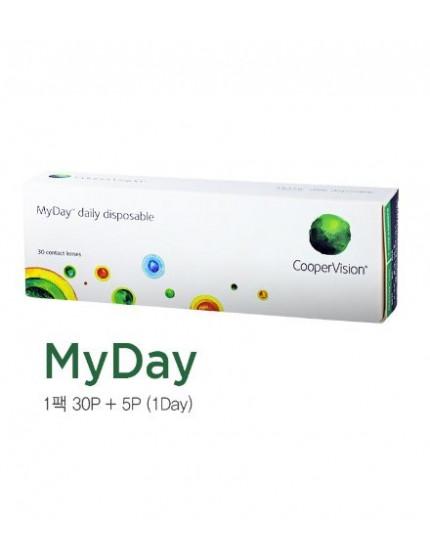 MyDay daily 矽水凝膠 抗UV 透明日拋 (30片/盒) 마이데이