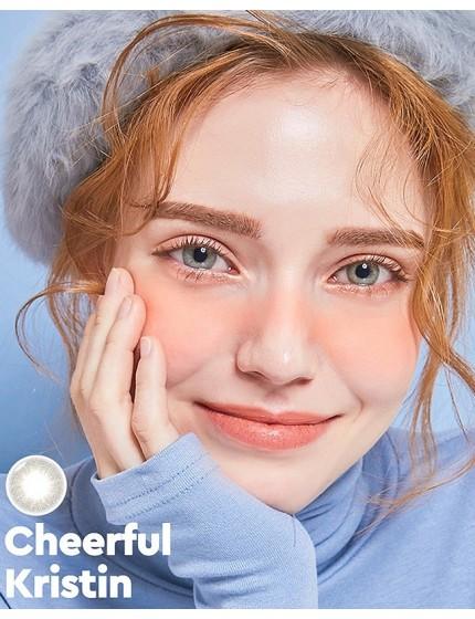 Cheerful Kristin 藍 PC矽水凝膠 (1月抛/2隻/盒)